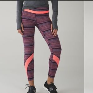Lululemon Inspired II leggings in electric striped